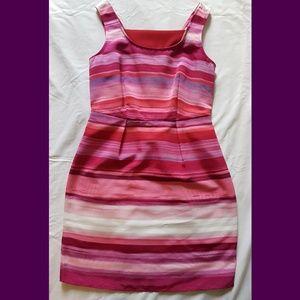 Pretty Striped Dress By Ann Taylor *LOFT*